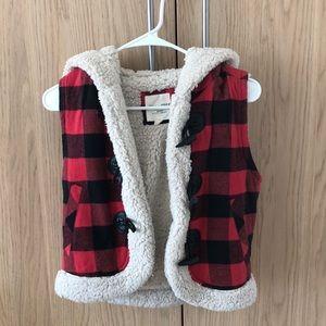 Sherling crop vest
